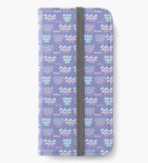 Purple Wave Pattern Line Shapes  iPhone Wallet/Case/Skin