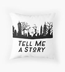 Tell Me A Story New York Throw Pillow
