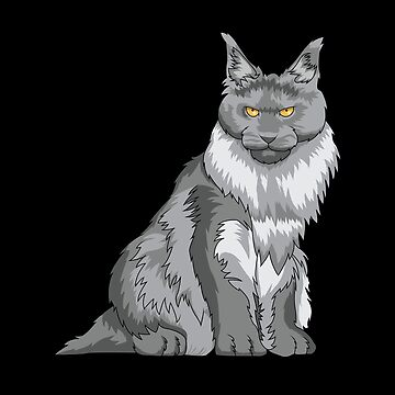 Maine Coon Cat Design by kudostees
