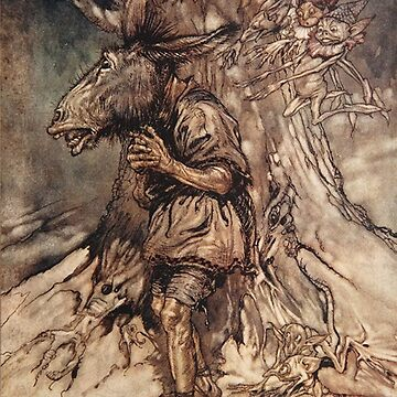 Midsummer night's dream donkey by Arthur Rackham by Geekimpact