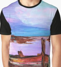 Beached Whaler at Sunset Graphic T-Shirt