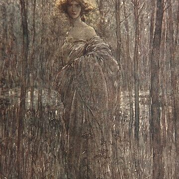 Woman in the woods - Arthur Rackham by Geekimpact