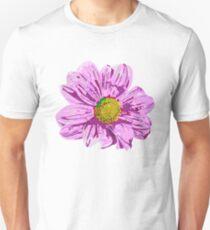 Pinky lila Blütenkraft Unisex T-Shirt