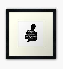 Whenever I'm sad, I stop being sad and be awesome instead Framed Print