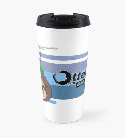 Ottercopter Banner (Blue) Travel Mug