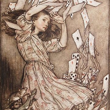 Alice in Wonderland falling cards by Arthur Rackham by Geekimpact
