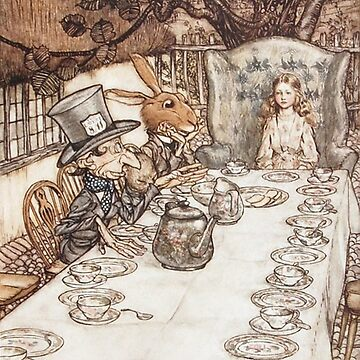Arthur Rackham - Alice in Wonderland tea party by Geekimpact
