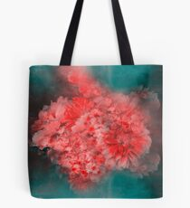 Abstract Red Flowers Tote Bag