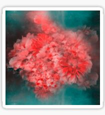 Abstract Red Flowers Sticker