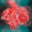 Abstract Red Flowers by VictoriaHerrera