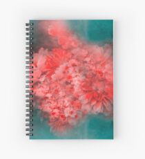 Abstract Red Flowers Spiral Notebook