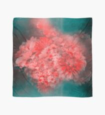 Abstract Red Flowers Scarf