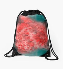 Abstract Red Flowers Drawstring Bag