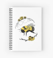 Bumble Bee Bubble Spiral Notebook