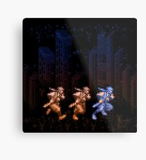 Ninja Shadows Metal Print