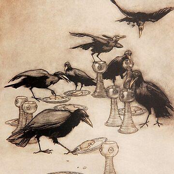 Ravens illustration - Arthur Rackham by Geekimpact