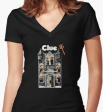 Clue: The Movie Women's Fitted V-Neck T-Shirt