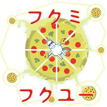 Unicorn Pizza Universe by biibee