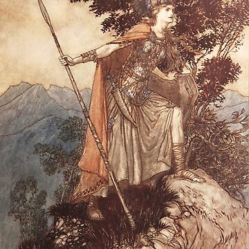 Valkyrie - vintage illustration by Arthur Rackham by Geekimpact