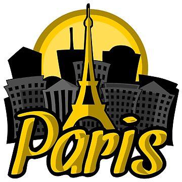 Paris Skyline Sunrise by pda1986