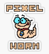 Pixel worm as a pixel graphic Sticker