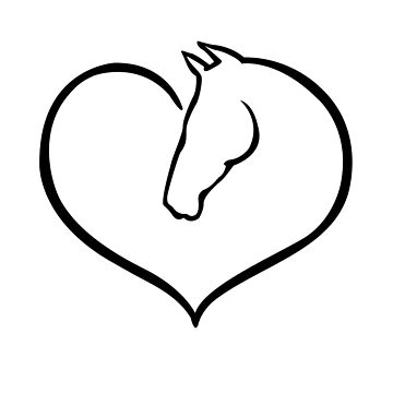 Horse Lover Gift. Horse and Heart. by KsuAnn