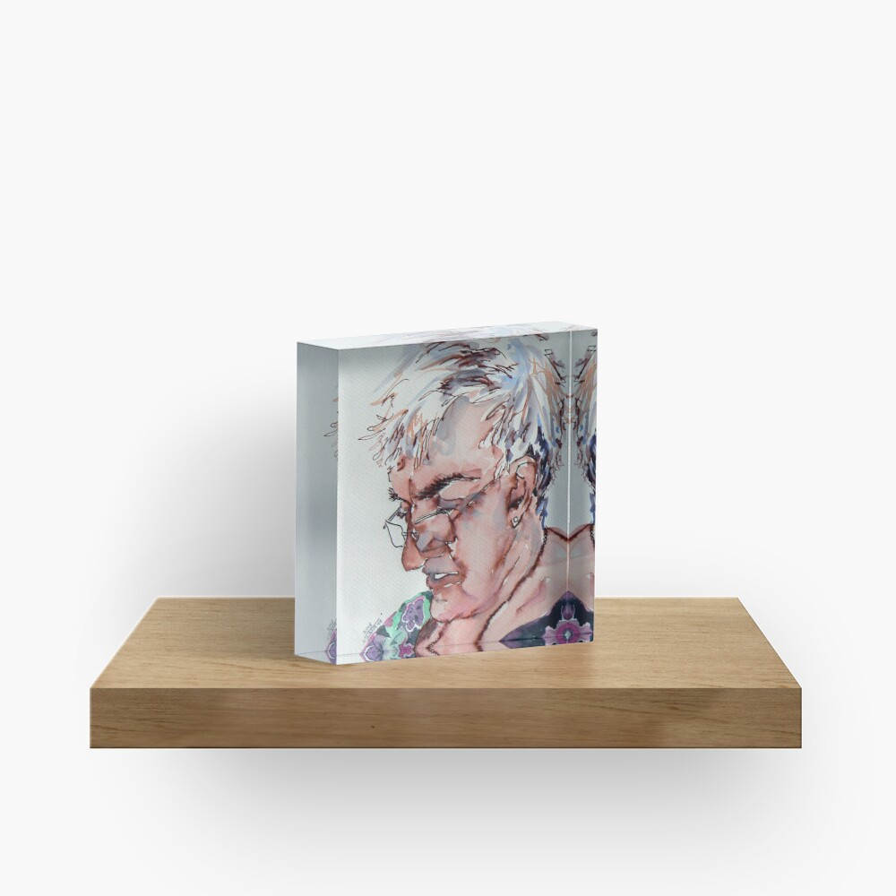 A gal named Jimmy Acrylic Block