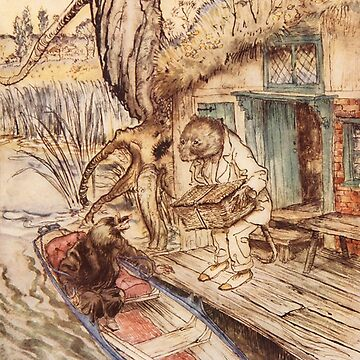 Wind in the Willows - Arthur Rackham vintage illustration by Geekimpact