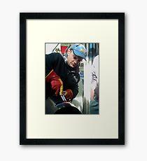 Rocket man by Charlie Framed Print