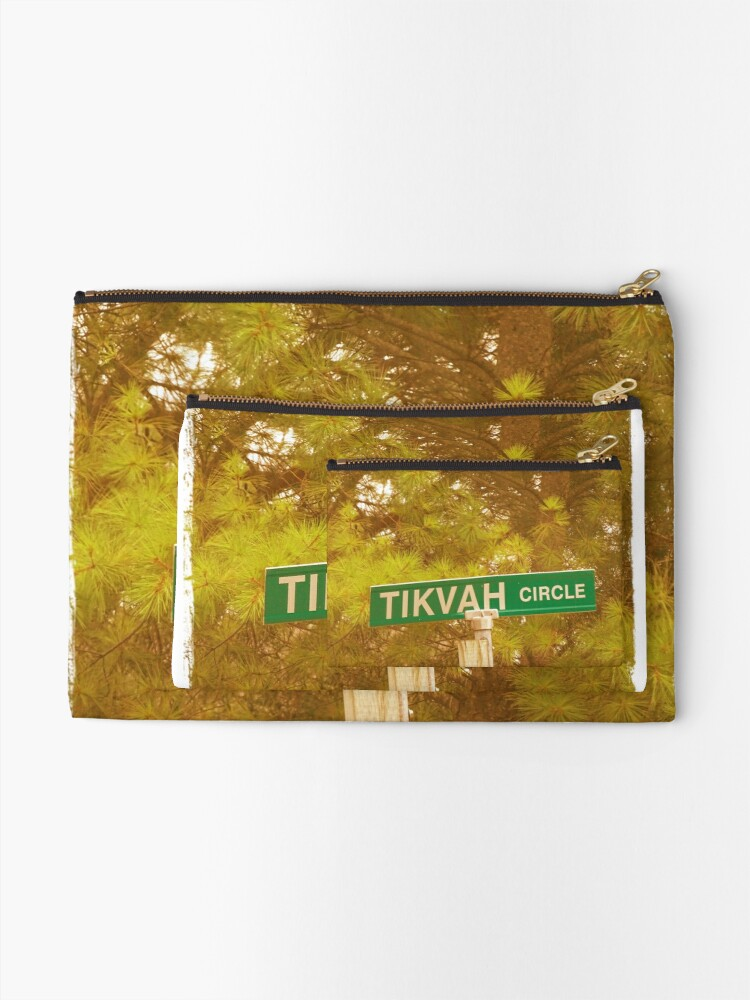 Alternate view of Tikvah circle  Zipper Pouch