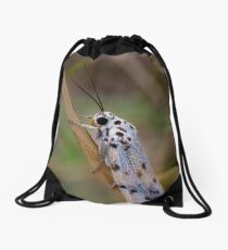 Moth Macro Drawstring Bag