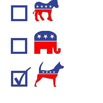 Vote Democrat Republican Dog by goodtogotees