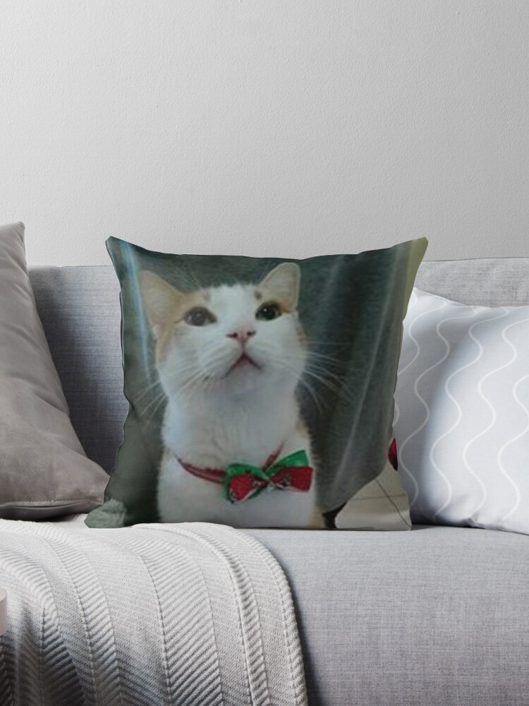Fabulous Naruto The Cat Throw Pillow By Nedel Machost Co Dining Chair Design Ideas Machostcouk
