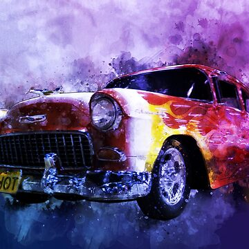 Flaming Red Bow Tie Fifty-Five Chevy by ChasSinklier