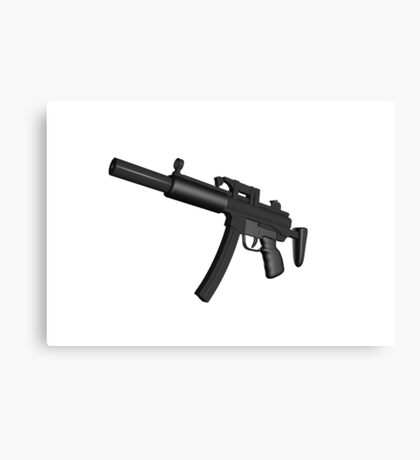 Machine Gun Canvas Print