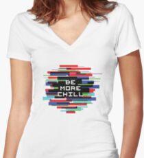 Camiseta entallada de cuello en V Se más frío
