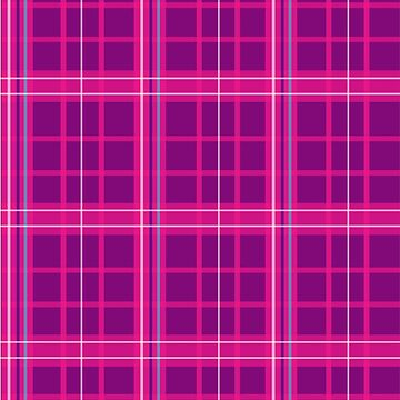 Pink Plad Pattern by Onevisualeye