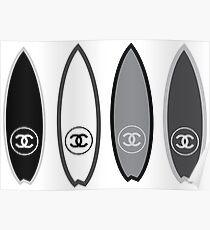 fashion surfboard Poster