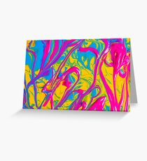 Colorful Abstract Oil Painting Greeting Card