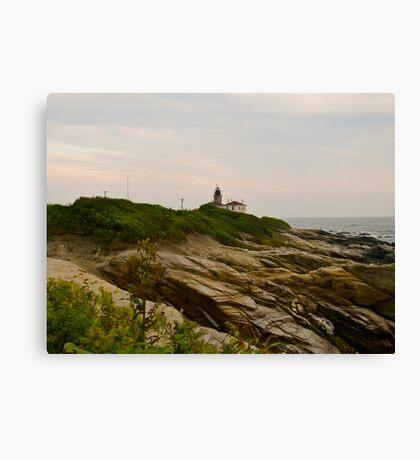 """Beavertail Lighthouse"" - Conanicut Island Series - © 2009 AUG Canvas Print"