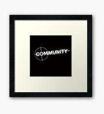 Community: Modern Espionage Framed Print