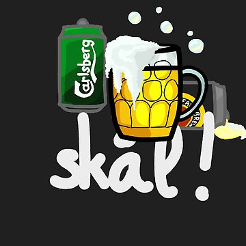 Skål! - Danish word meaning cheers! by marieb73