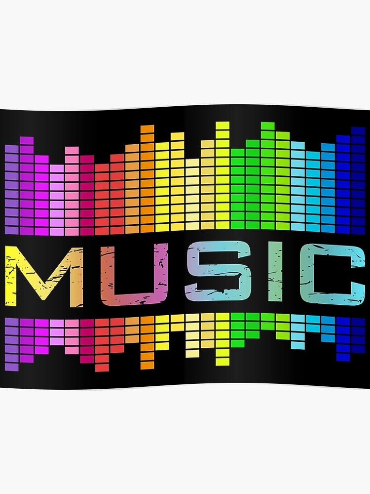 MUSIC Equalizer Sound Rock'n'Roll Rainbow   Poster