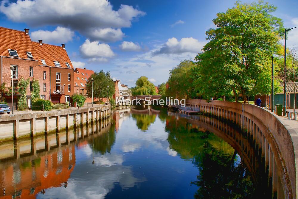 River Wensum at Fye Bridge Norwich UK by Mark Snelling