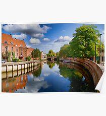 River Wensum at Fye Bridge Norwich UK Poster