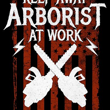 Arborist At Work Funny Tree Surgeon American Flag by pbng80