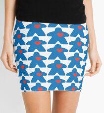 Meeple love - blue Mini Skirt