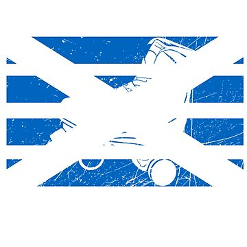 Scottish Saltire Flag Roller Skate Gifts for Scotland and Skating Lover (Design Day 229) by TNTs