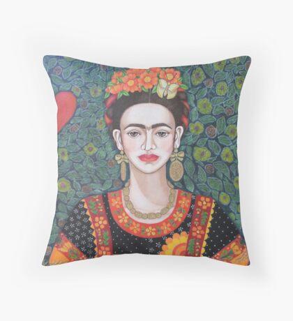 Frida, queen of Hearts Throw Pillow