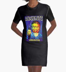 Absente (Wermut) Van Gogh Parodie Vintage Poster, T-Shirts, T-Shirts, Jersey, Poster, T-Shirts, Drucke, Print T-Shirt Kleid